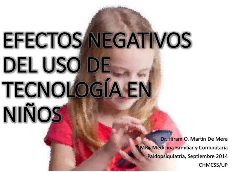 Efectos negativos del uso de tecnología en niños