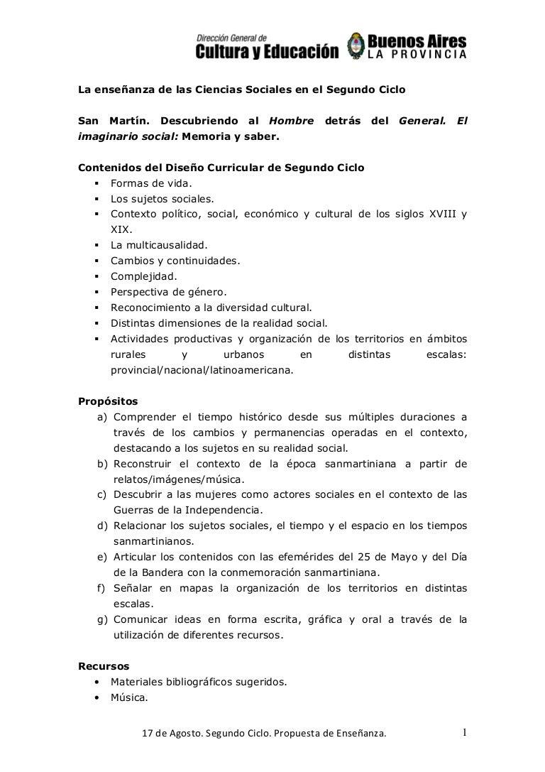 Propuestas para trabajar el 17 de agosto - Segundo Ciclo