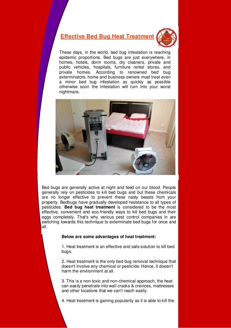 8 Effective Bed Bug Heat Treatment