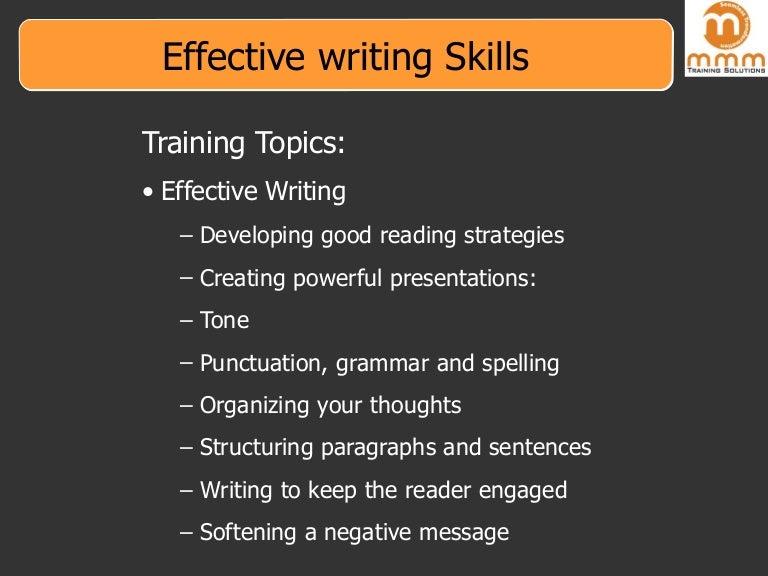 writing skills on resume