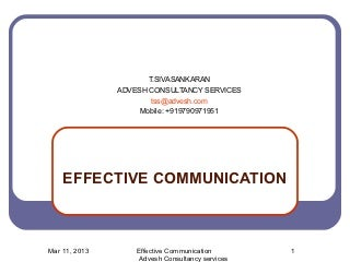 Effective communication -Training Module