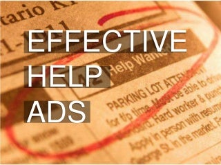 Effective help wanted ads