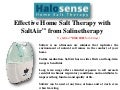 Effective home salt therapy with salt air™ from salinetherapy
