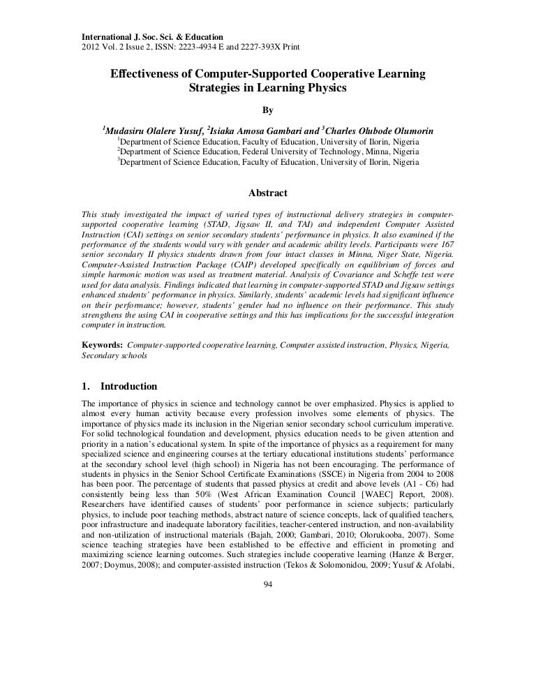 Collaborative learning phd thesis