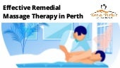 Effective remedial massage therapy in perth