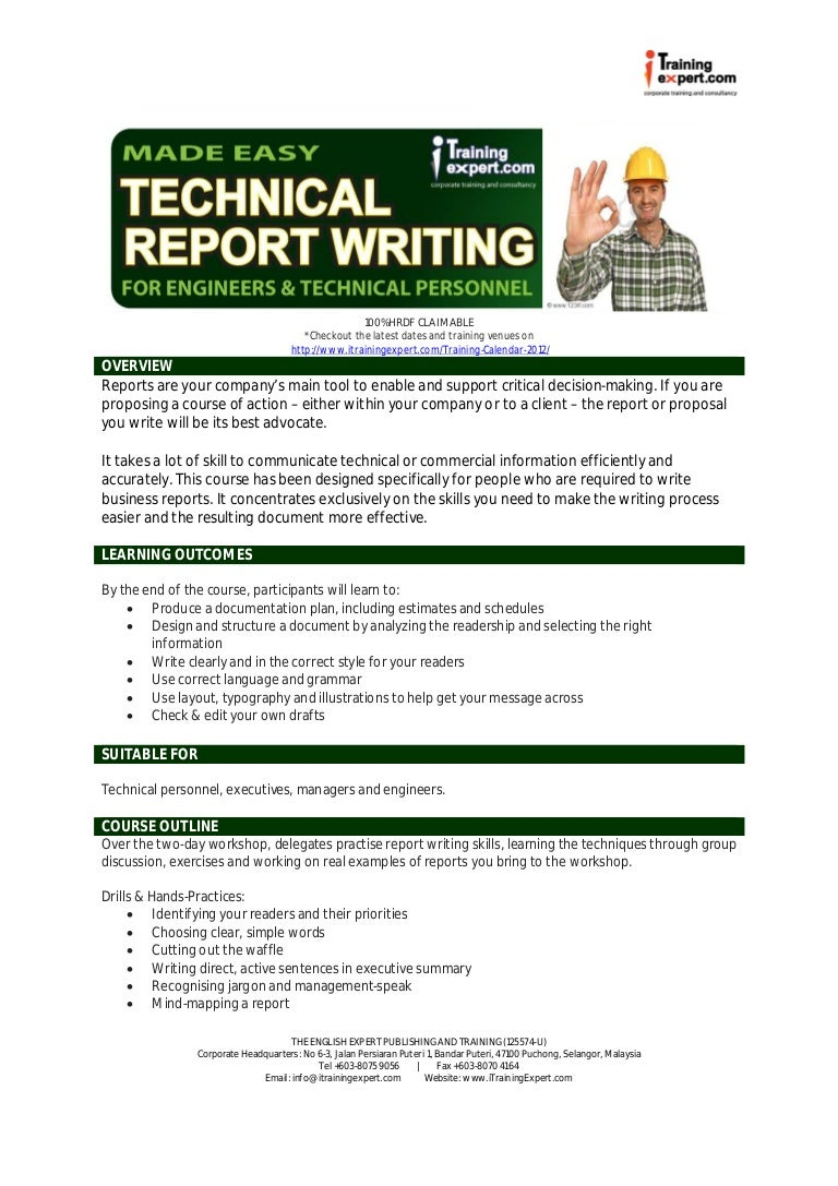 online report writing training