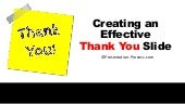 Effective Thank You Slide Ideas