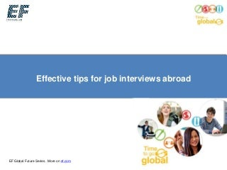Effective tips for job interviews abroad   ef global future webinar
