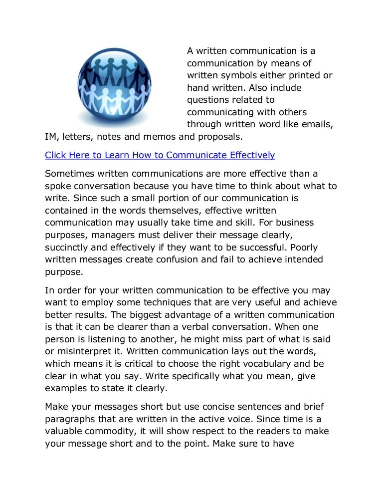Effective written communication ways of communication spiritdancerdesigns Choice Image