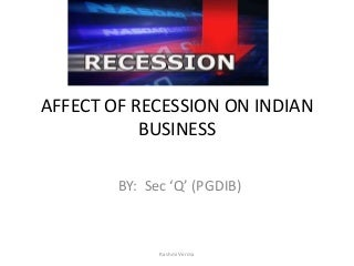 Effect of recession ppt