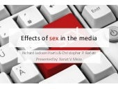 Effects of sex in the media - a book chapter by Jackson and Barlett