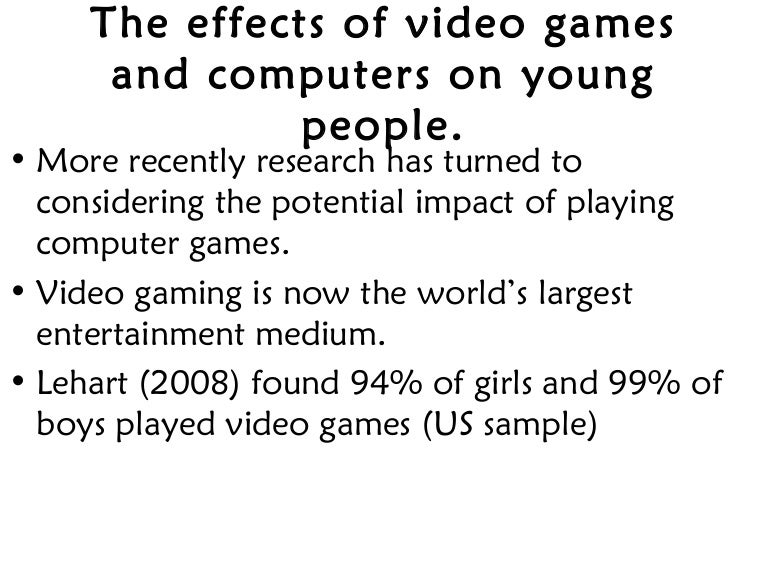 Research paper about video game