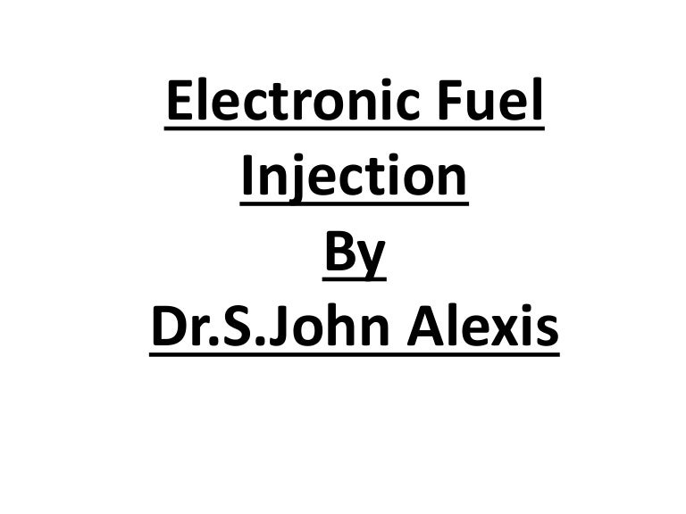 Fuel Injection System Pdf