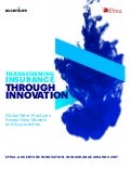 Transforming Insurance Through Innovation: Global Best Practices Reveal New Models and Approaches: Efma-Accenture Innovation in Insurance Awards 2017