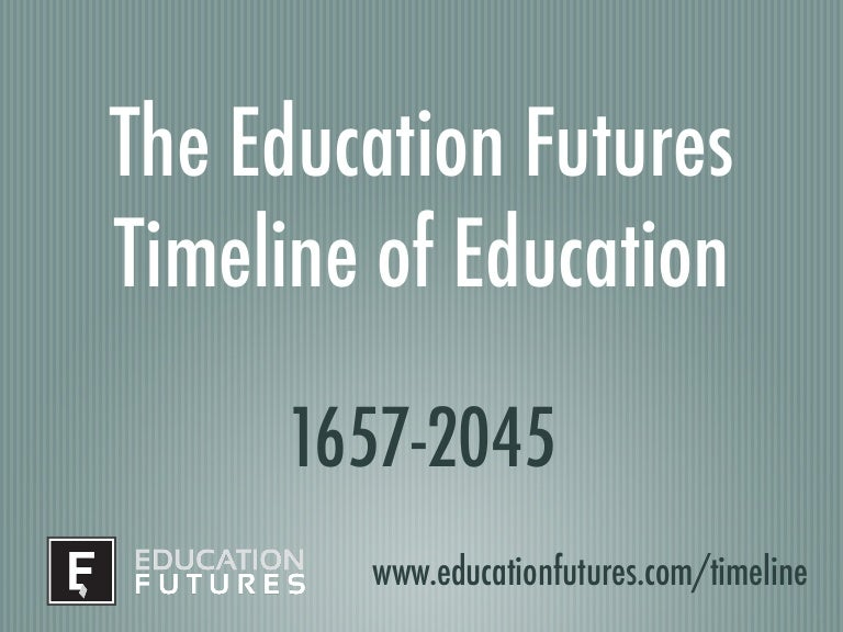 The Education Futures timeline of education: 1657 - 2045