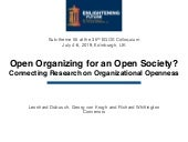 Open Organizing for an Open Society? Connecting Research on Organizational Openness