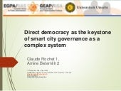 Direct democracy as the keystone of smart city governance as a complex system