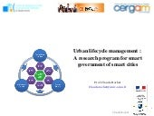 URBAN LIFECYCLE MANAGEMENT :  a RESEARCH PROGRAM FOR SMART GOVERNMENT OF SMART CITIES