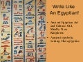 Write Like an Egyptian!