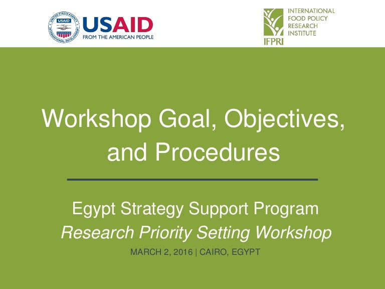 Egypt strategy support program workshop goal objectives and procedu fandeluxe Images