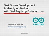 TDD in deeply embedded system (Arduino) with TAP