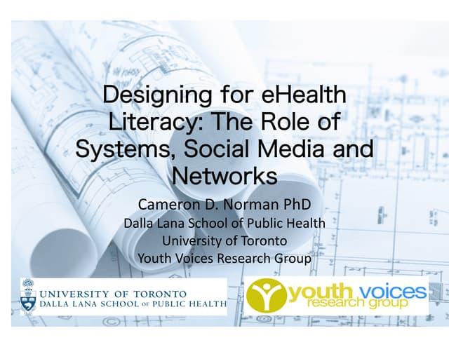 E Health Literacy Design Systems