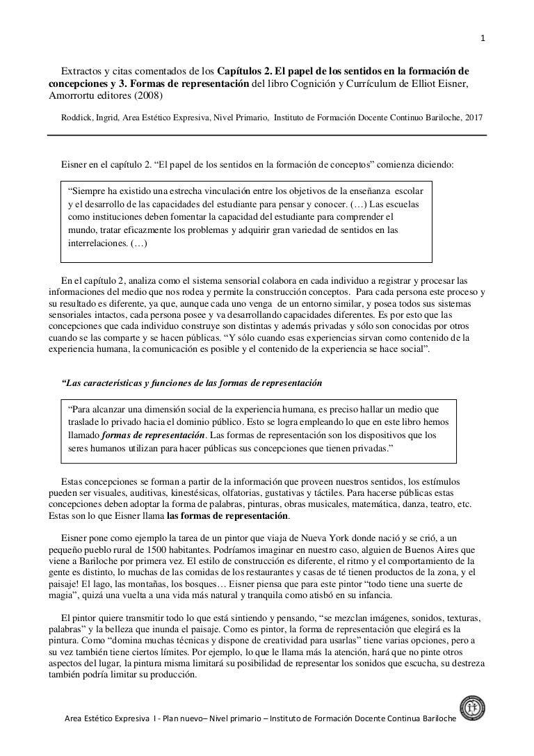 Eisner elliot-cognicion y curriculum-sintesis cap_2_y_3_y_guia