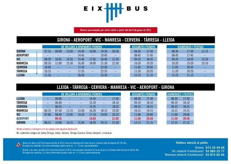 Horaris Eix Bus Pdf