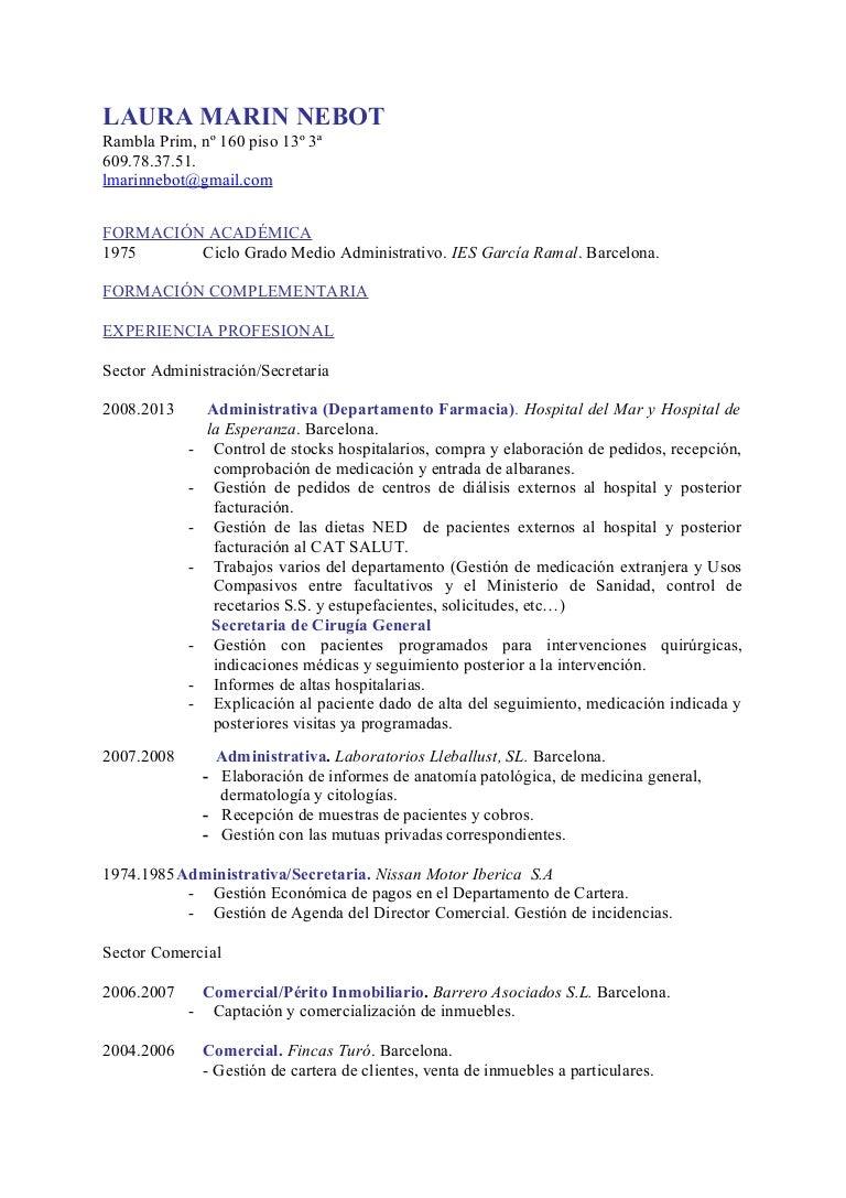 ejemplo cv cronologico