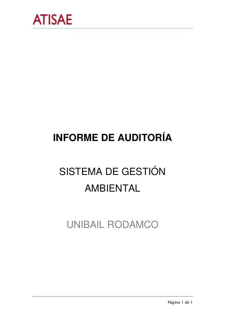 Ejemplo informe de auditoria ambiental