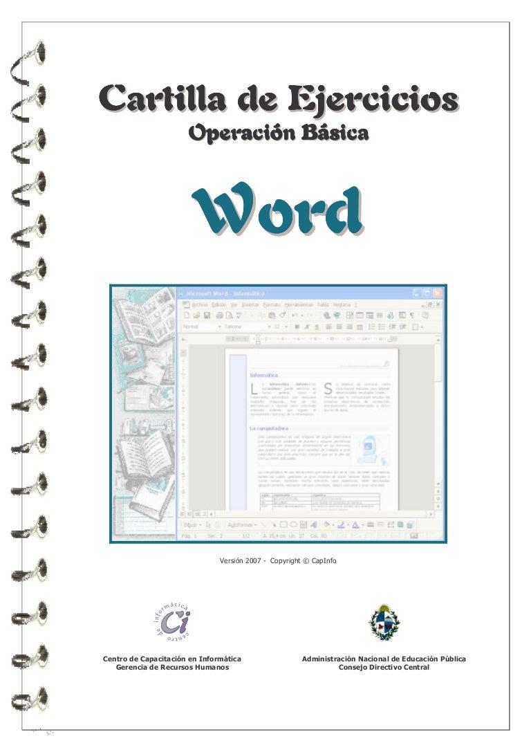 Ejercicios aplicados en Word