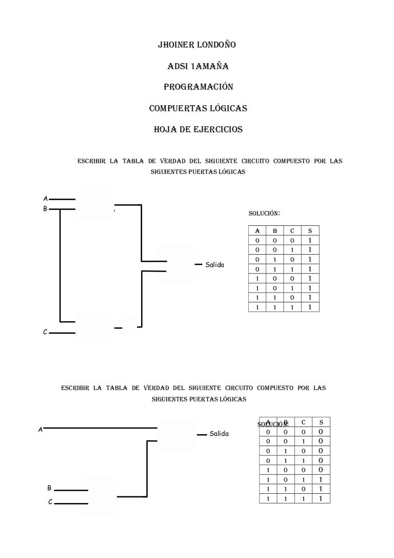 Circuito Xnor : Ejercicios compuertas logicas circuitos