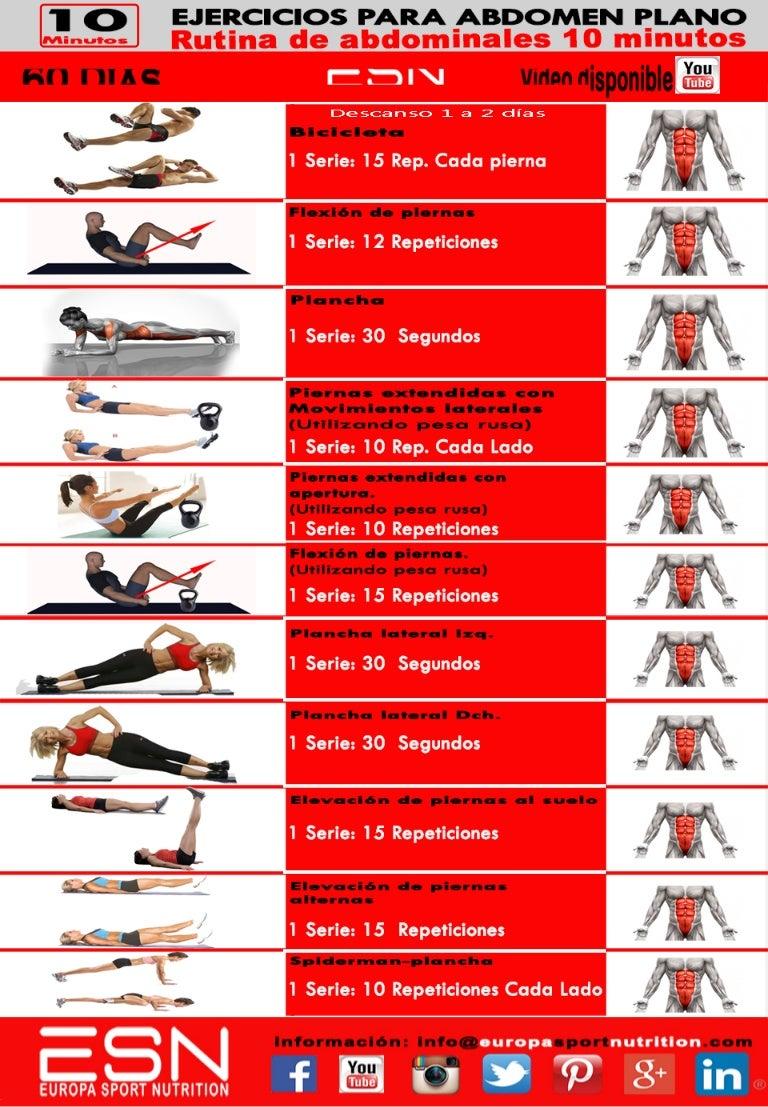 Rutina de ejercicios para bajar de peso y reducir abdomen