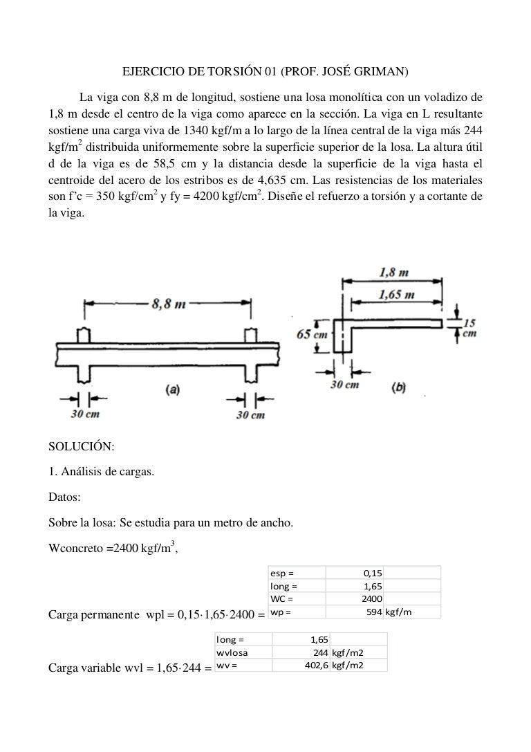 Ejercicios de concreto reforzado pdf