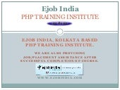 Ejob india php training institute in kolkata