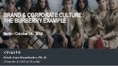 Brand & Corporate Culture: The Burberry Example