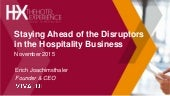 Staying Ahead of Disruptors in the Hospitality Business