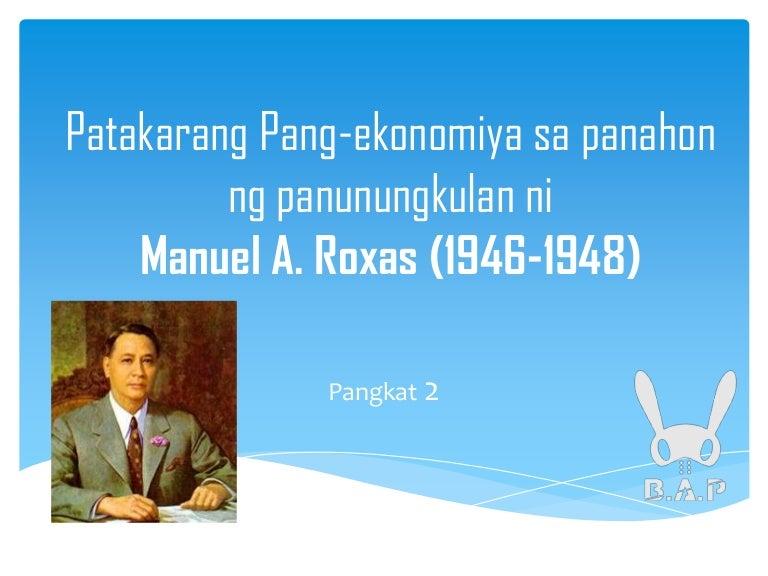 Manuel tagalog roxas ni talambuhay Translate manuel
