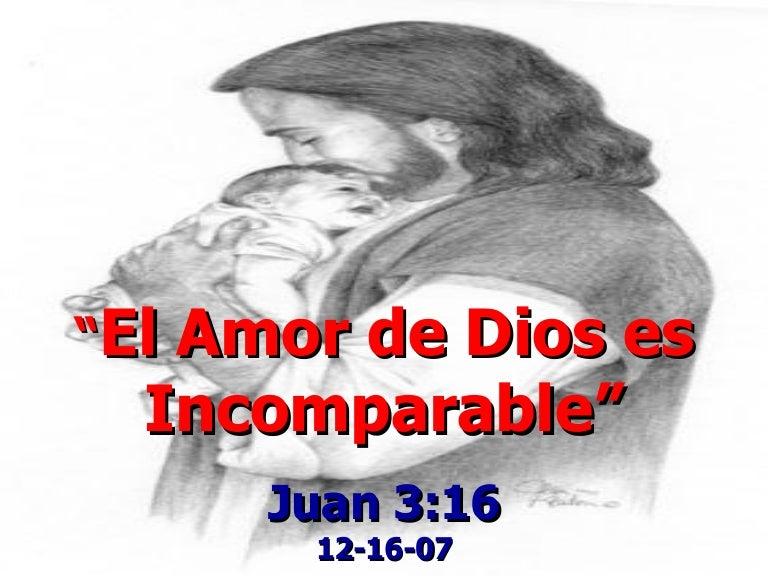 Resultado de imagen para el amor de dios es incomparable