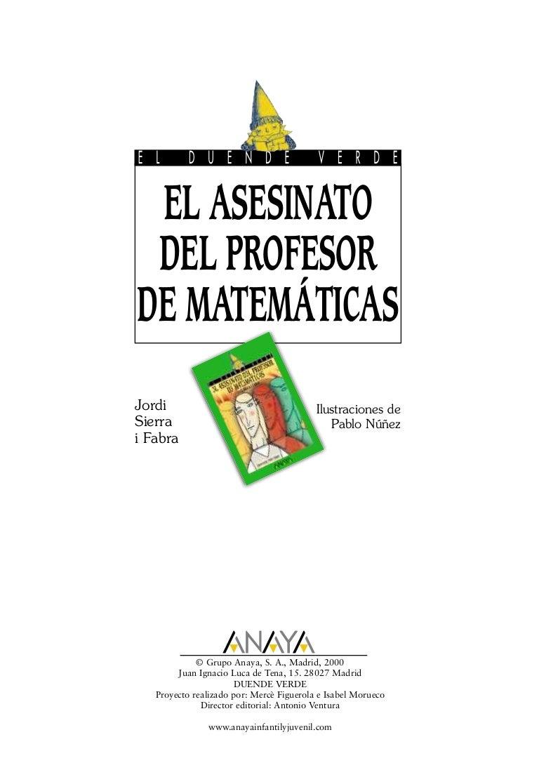 El Asesinato Del Profesor De Matematicas