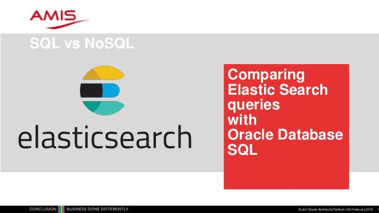 Comparing 30 Elastic Search operations with Oracle SQL