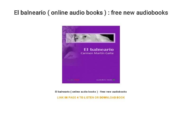 El Balneario Online Audio Books Free New Audiobooks