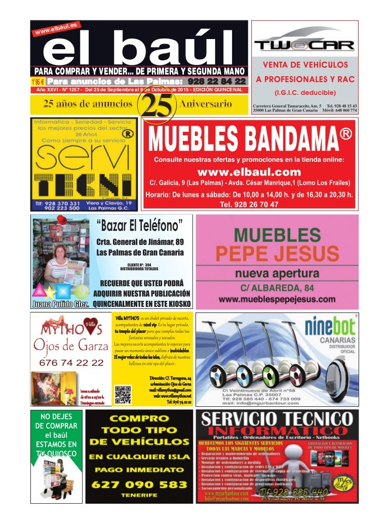 6f90c7cdafda Periódico El baúl edición provincia de Las Palmas