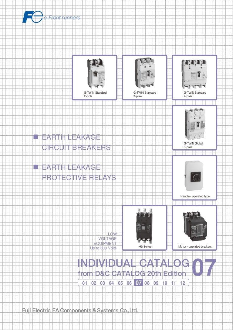 Catalogue Elcb Fuji Earth Leakage Circuit Breaker Fuji Beeteco