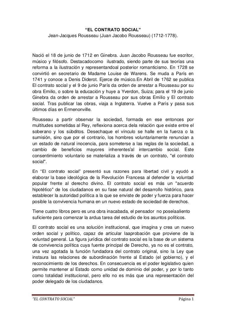 """""""El contrato social"""" de Juan Jacobo Rousseau"""