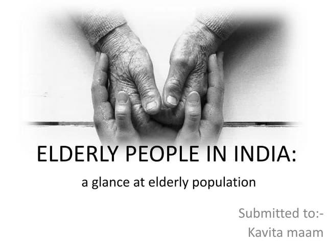 Elderly people in india
