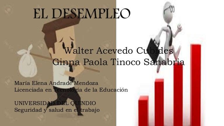 el desempleo diapositivas