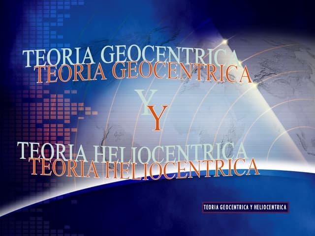 Teoria Geocentrica Y Heliocentrica