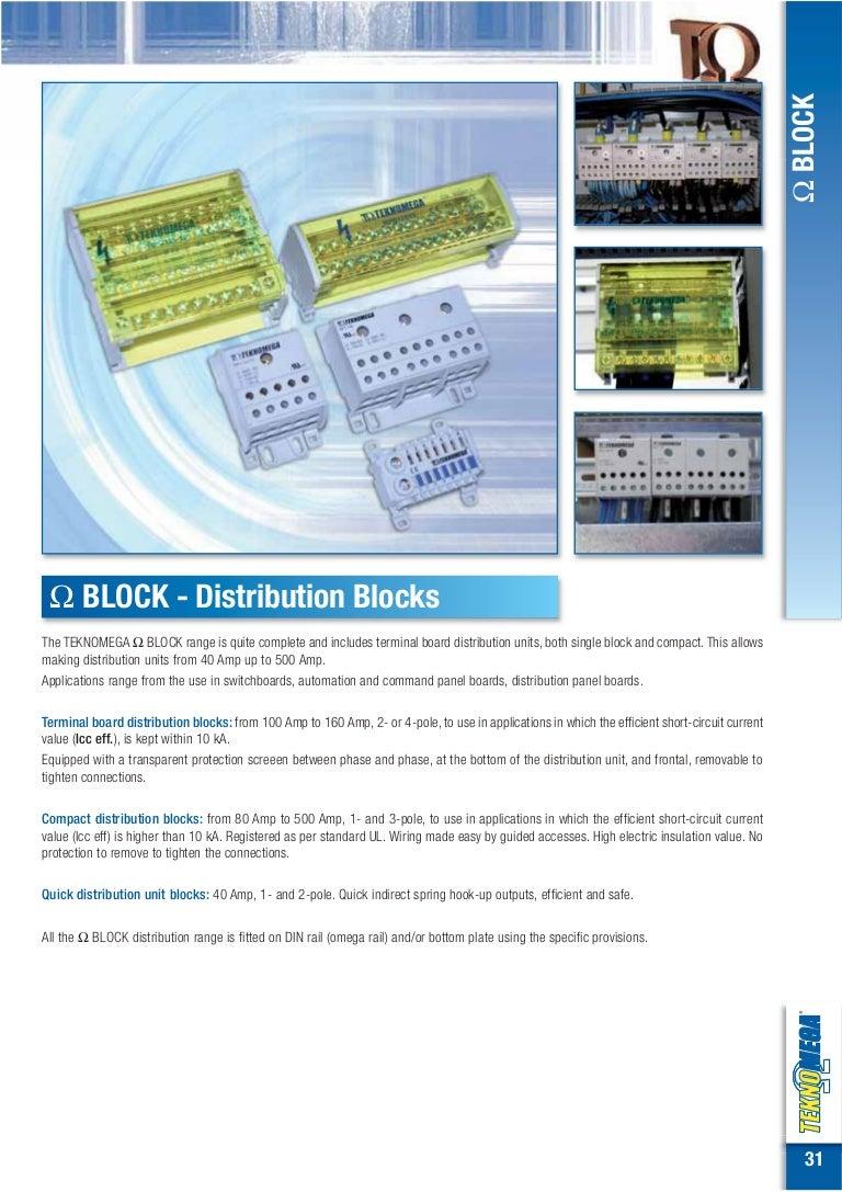 Electrical Distribution Blocks Wiring Block