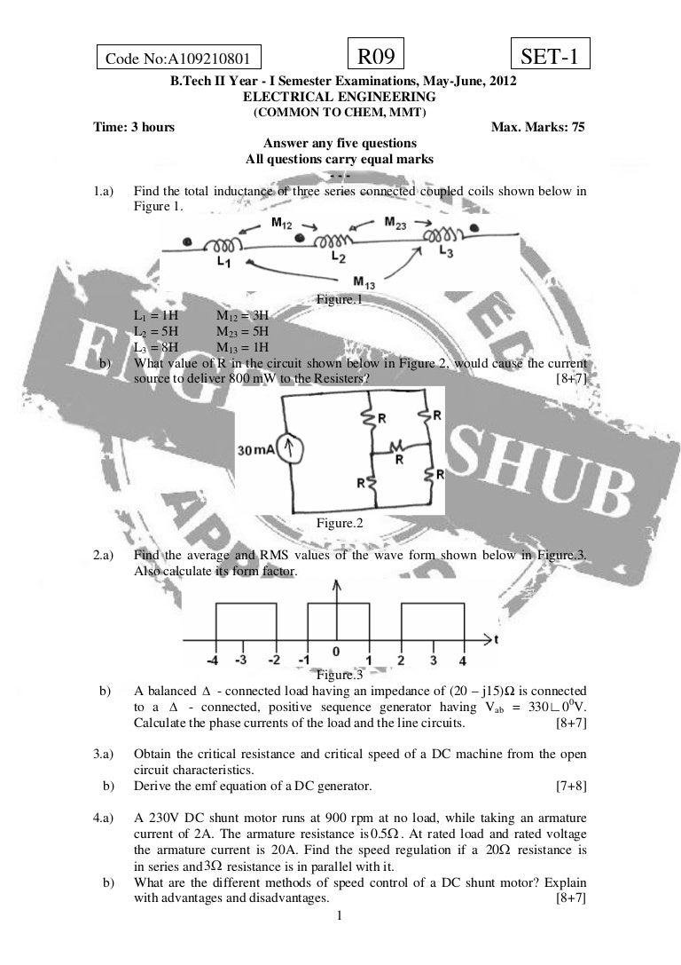 Electrical Engineering 1 General Electric Dc Shunt Motor Wiring Diagram